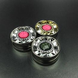 Wholesale Diamond Ecig - colorful diamond grinder tobacco smoking metal grinders herbal tobacco cnc teeth filter net for ecig water bongs (14h006)