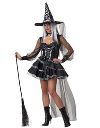 Wholesale Adult Witches Halloween Costume - Wholesale-Sexy Witch Costume Deluxe Adult Womens Magic Moment Costume Adult Witch Halloween Mischievous Fancy Dress