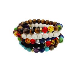 Wholesale Party Energy - 8 mm chakra stones bracelet Buddha to buddha bracelets mala beads lava energy bracelets wholesale for women mens beaded bracelets