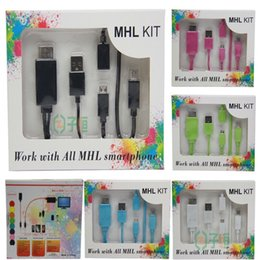 Wholesale Hd Usb Kit - HD 1080P Micro USB MHL To HDMI Kits HDTV Adapter Converter Mobile Phone Digital Cable For Samsung S3 4 Note2 Other MHL Phone