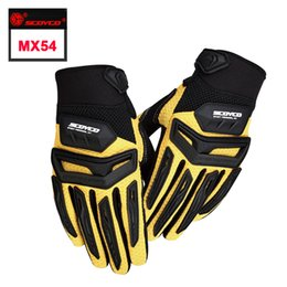 Wholesale Motocross Gloves Yellow - Protective SCOYCO MX54 motocross guantes ciclismo motorcycle motos luvas motocicleta ATV gloves Dirt Bike motorbike motociclista