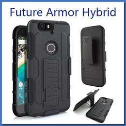 Wholesale Future Apple Iphone - Future Armor Impact Hybrid Case For iphone 7 plus Note 7 Case With Belt Clip Holster Kickstand Combo Case LG K7 K10 V10 STYLO Opp Package
