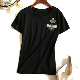 Wholesale Embroidery Garment - Women Quality Full Cotton Apis Florea Embroidery Short Sleeve Ma'am 2017 Spring And Summer Small Unlined Upper Garment 1626353316