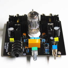 Wholesale Headphones Tube - Freeshipping Audio tube preamplifier Board Pre-Amp Class A tube preamp Valve Class A 12AU7 Tube Headphone diy amplifier kit