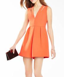 Wholesale sexy mini dress cutouts - Sexy Cutout Women A-Line Dress V-Neck Sleeveless Mini Party Dresses 054A558