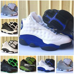 Wholesale Mesh Basket Plastic - Free Shipping Hot New Retro 13 XIII Men Basketball Shoes Cheap Black Green Retros 13s Mens Sneakers Basket ball Trainers Boots Sports Shoes