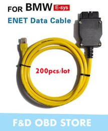 lector de código del creader Rebajas Nuevo ESYS 3.23.4 V50.3 Cable de Datos para bmw ENET Ethernet a OBD Interfaz E-SYS ICOM Codificación para F-serie Envío Gratis 200 unids / lote