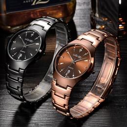 Wholesale Tungsten Watch Sale - 2016 The Brand New Fashion Business Calendar Waterproof Laser Tungsten Steel Mens Watch Hot Sale Wristwatch