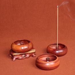 Wholesale Wooden Holders - SuperDeal Burma's pear rosewood incenso burner for incense sticks with wooden stand porta desk encens holder decoration