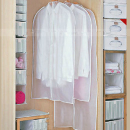 Wholesale Rubber Shirts - Daily Clothes Hanging Garment Dust Cover Children   Adult Shirt Coat Suit Protector Wardrobe transparent Storage Bag nonwovens 2styles 5size