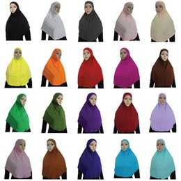 Wholesale Hijab Inner - New Women's Soft Stretchble Muslim Beautiful Inner Hijab Caps Islamic Underscarf Hats Muslim hijab scarf Outer scarf + inner cap SET 102