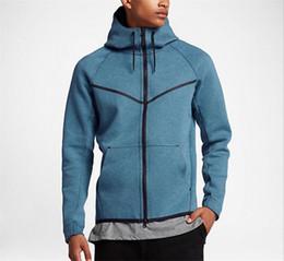 Wholesale fleece knit jacket - 2017 new autumn and winter MEN'S HOODIE SPORTSWEAR TECH FLEECE WINDRUNNER fashion leisure sports jacket running fitness jacket hoodie