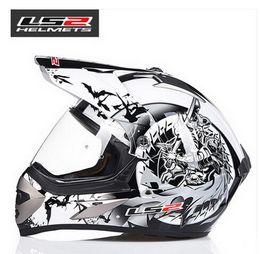Wholesale Helmet Ls2 Cross - LS2 Cross country motorbike ran helmet MX433 professional off-road racing motorcycle helmet made of ABS with lens for four season