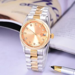 Wholesale Number Watch Mens - mens watches luxury aaa President Day-Date Diamonds Sapphire Glass Crystal Number Gold Stainless Steel Automatic Movement Sweep Mechanical
