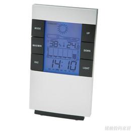 Nouveau Numérique Bleu rétro-éclairage LED Température Humidité Compteur Thermomètre Hygromètre Horloge ? partir de fabricateur