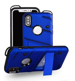 Wholesale Iphone Plastic Bags - For Samsung Note 8 S8 Plus Hybrid Armor Case Soft TPU PC Kickstand Holder Phone Cover for IPhone X 8 7 plus LG Stylo 3 G6 OPP Bag