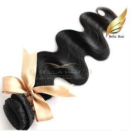 "Wholesale Virign Peruvian Hair - 10""-28"" 100% Peruvian hair 2pcs lot Virign human Hair Weaves body wave hair extensions 8A Bellahair natural color"