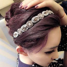 Wholesale Retro Style Hair Accessories - 15% off!2016 New Retro Style Handmade Rhinestone Crystal Beaded Elastic Headband Hairband hair hoop for Lady Women Girl hair Accessory 20pcs