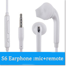 Wholesale Headphones Android Control - Brand S6 Earphones Ear Gels Headphone Earbuds with Mic and Volume Control for Galaxy s7 s8 s8plus Android Devices DHL free