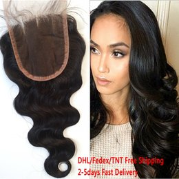 Wholesale Real Hair Waves - Cheap Virgin Brazilian Body Wave Lace Closure The Most Closed To The Real Human Scalp No Tangle No Shed G-EASY Hair
