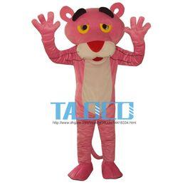 Pantera cor de rosa do traje da mascote dos desenhos animados do vestido extravagante roupa frete grátis tamanho adulto de