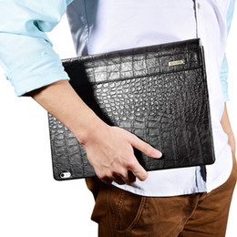 Wholesale Microsoft Surface Skin - For Microsoft Surface Book Sleeve Bag Embossed Crocodile Genuine Leather Detachable Flip Case For Surface Book Black Cover Skin