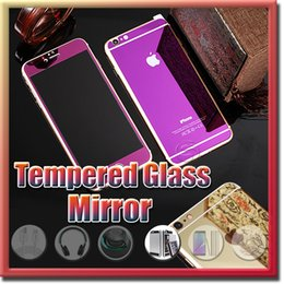Canada Effet miroir doré coloré en verre trempé protecteur d'écran coloré avant et arrière pour iphone 6 plus 6s plus SE haute qualité anti-déflagrant Offre