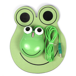 Wholesale Wholesale Computer Mice - Cute Frog Shape optical USB Mouse for Computer Laptop Fashion Cartoon Frog Prince Mouse 3D Wired Optical Mice Home &Office unique Mouse Gift