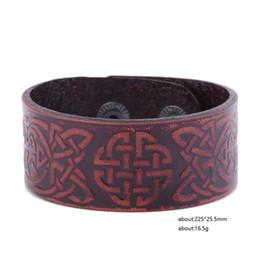 Wholesale Lucky Bracelets For Men - Vintage Charm Lucky Knot Genuine Leather Bracelet Punk Simple Style Fashion Braid Bracelet For Women and Men Jewelry