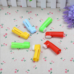 Wholesale Finger Bad - Hot Selling Soft Pet Finger Toothbrush Dog Brush Addition Bad Breath Tartar Teeth Care Dog Cat Cleaning Supplies