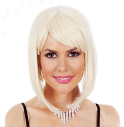 Wholesale Girls Bob Wigs - Wholesale-Free Shipping New Style High Quality Long Bob Costume Wig Cute Girl Cosplay Costume Hair 3SH040