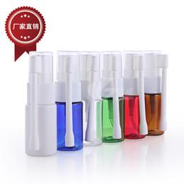Bouteille médicale en plastique en Ligne-En gros 10 ml Nasal Oral Spray Bouteille Vaporisateur Médical bouteille PE En Vaporisateur En Plastique Bouteille Buse vaporisateur livraison gratuite