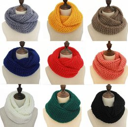 Wholesale Cable Knit Scarfs - 2017 NEW Women Winter Warm Infinity single Cable Knit Cowl Neck Long Scarf Shawl free shipping