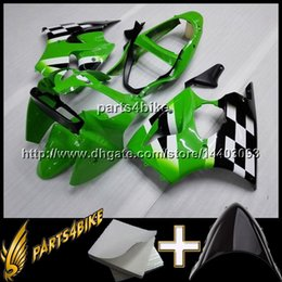 Wholesale Kawasaki Zx6r Blue Fairings - 23colors+8Gifts Injection mold ABS Fairing For Kawasaki ZX6 R 2000-2002 ZX6 R 00 01 02 black and green Aftermarket Plastic