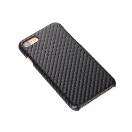 Wholesale Hard Leather Pouch Patterns - 200pcs Luxury Carbon Fiber PU Leather Case for iPhone 7 7plus Retro Style Wooden Weave Snake Pattern Leather Hard Case Cover