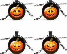 Wholesale Tin Lanterns Wholesale - Selling Necklace HALLOWEEN Jack-O-Lantern time Gem Necklace Pendant Necklace smile