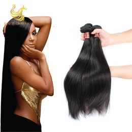 Wholesale Malasian Human Hair - Brazilian Remy Human Hair Straight Unprocessed 7A Malasian Virgin Hair 100g Bundle 3Pcs Lot Malaysian Straight Virgin Hair Weaves