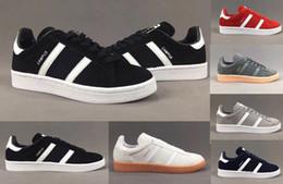 Wholesale Men Campus Shoes - Top Quality 2017 Men Women Casual Suede Originals Campus Vintage 6 Color Lightweight Walking Hiking Shoes Gazelle Size Eur36-44