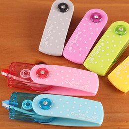 Wholesale Push Sign - 5 pcs lot Free Shipping Cartoon Push Correction Tape With Lace For Key Tags Sign Students Stationery Material Escolar