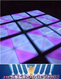 Wholesale Strobe Light Effect - NEW Led Dance Floor 960pcs*5mm Led 13DMX 512 Channels Dance Floor Light RGB Color Mixing Led Effect Stage Lighting Led Dancing Floor MYY16
