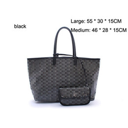 Wholesale Large Orange Leather Handbag - Luxury Handbags Women Bags Designer Brand Famous Shoulder Bag Female Vintage Satchel Bag PVC+ Leather 55CM Crossbody Shoulder Bags