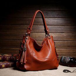 Wholesale Vintage Handbags Hobo - Wholesale-2016 luxury women leather designer handbags sac femme fashion tote bags handbags women famous brands Shoulder Bag bolsa feminina