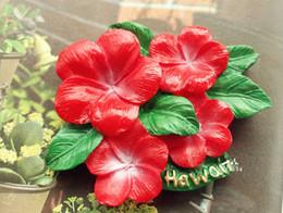 2019 синенсис Гавайи гибискус Роза-sinensis 3D реалистичные смолы стерео холодильники магниты подарок гибкие магниты на холодильник игрушки скидка синенсис