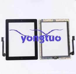 Wholesale Glass For Ipad4 - touch screen For Apple ipad 3 4 ipad3 ipad4 touch panel digitizer screen glass replacement for ipad 4 touch screen