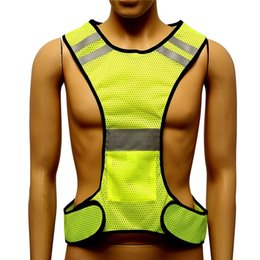 Wholesale Yellow Reflective Vest - New Fluorescent Yellow High Visibility Reflective Vest Security Equipment Night Work New Arrival High Quality & can drop ship