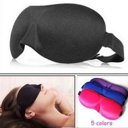 Wholesale Shading Cover - 1Pcs 3D Sleep Mask Natural Sleeping Eye Mask Eyeshade Cover Shade Eye Patch Women Men Soft Portable Blindfold Travel Eyepatch