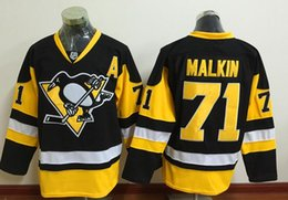Wholesale Wholesale Binding - 2016 Stanley Cup Final Bound Jerseys Penguins Jerseys #71 Malkin Jersey Black And Gold Color W Patch size 48-56 Mix Order Stitched Jerseys
