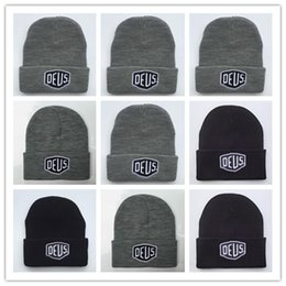 Wholesale Rayon Yarns - Good Quality Brand New! Deus Ex Machina Baylands Trucker Beanie hat Men Women Bboy Girls Sports Winter 6 Hiphop God yeezus Cap Black