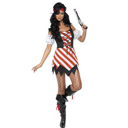 Wholesale Pirate Costume Jack Sparrow - Halloween Costumes Girls Pirate Costume womans Jack Sparrow Cosplay game uniforms