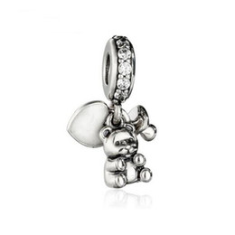 Wholesale Baby Beads Bracelet - Mother's Day Gift Baby Treasures Pendant Authentic 925 Sterling Silver Jewelry Dangle Teddy Bear Beads For DIY Brand Bracelets Accessories